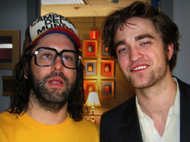 Judah Friedlander and Robert Pattinson