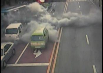 В Сеуле взорвался рейсовый автобус