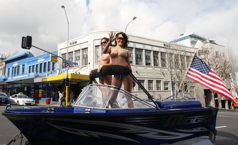 Protest Ahead Of Boobs On Bikes Parade