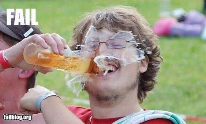 Обосралась по пьяне