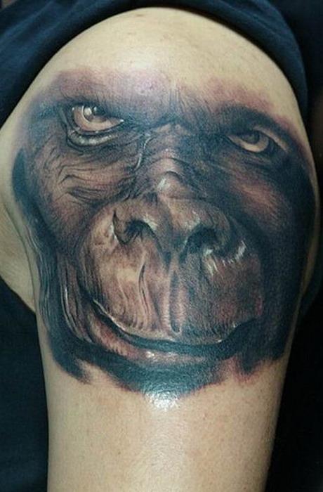 Татуировка обезьяна - значение, фото - Тату студия Барака 80