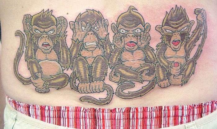 Татуировка обезьяна - значение, фото - Тату студия Барака 54