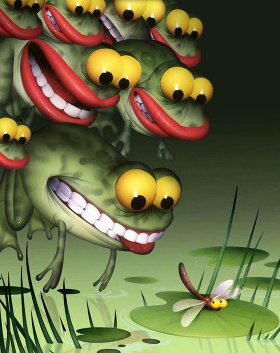 Смешные апреля, смешное животное рисунок