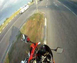 Мотоциклист не рассчитал маневр
