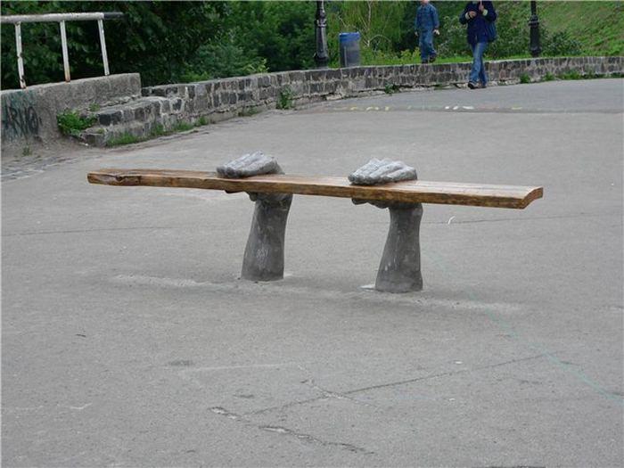 Дизайнерские лавочки в Киеве (8 фото)