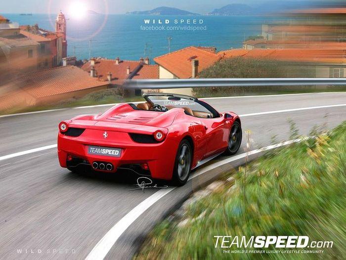 Обновленную Ferrari 458 Italia Spider покажут во Франкфурте (4 фото)