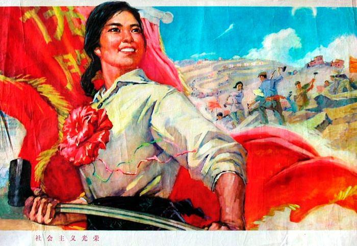 Китайские социалистические плакаты из прошлого (14 фото)