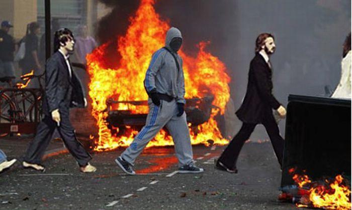 Фотожабы на лондонских мятежников (46 фото)