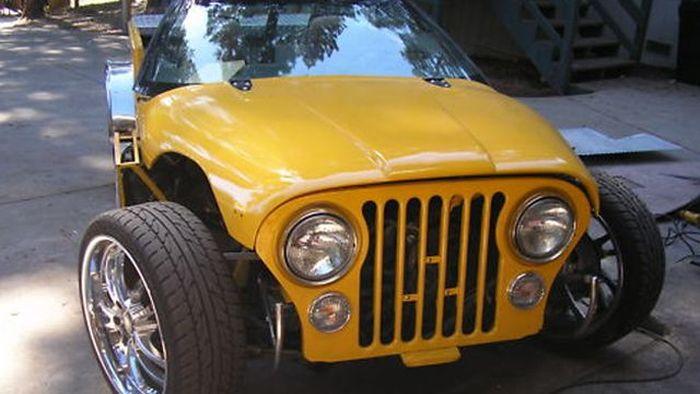 На американском автоаукционе представлен лот - Jeeprolet Wranglette (6 фото)