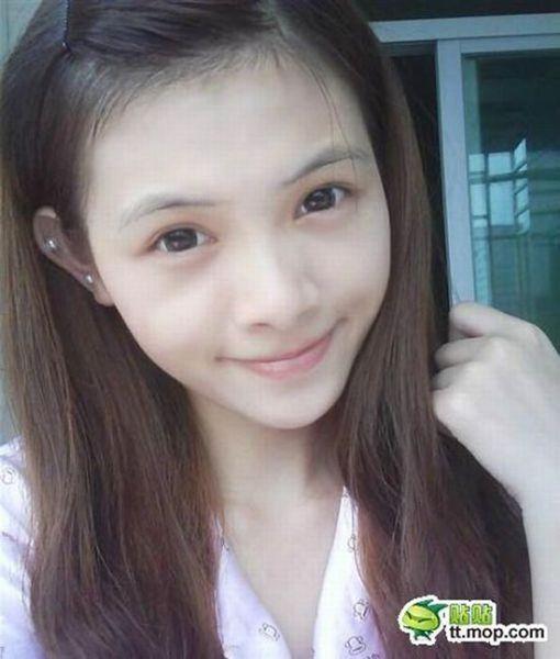 Китаянка дает мастер класс по нанесению макияжа (60 фото)