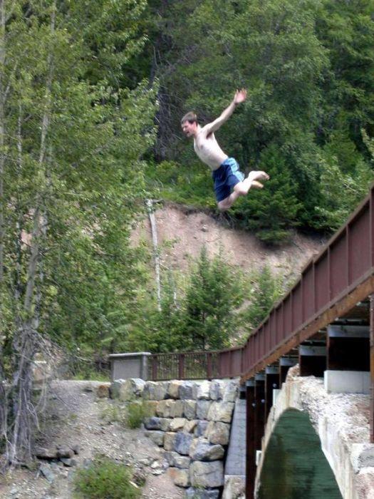 профилированного, картинки спрыгнуть с моста этого нужно