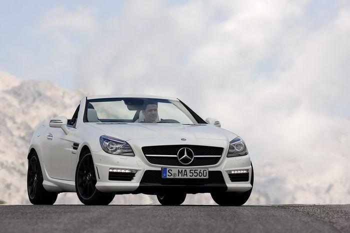 Новый Mercedes SLK55 AMG (39 фото+3 видео)