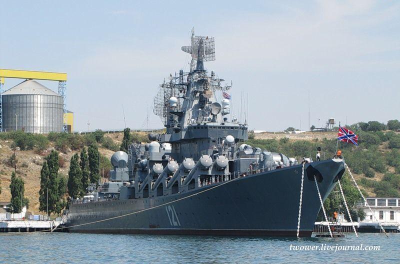 Гвардейский ракетный крейсер Москва (27 фотографий), photo:27