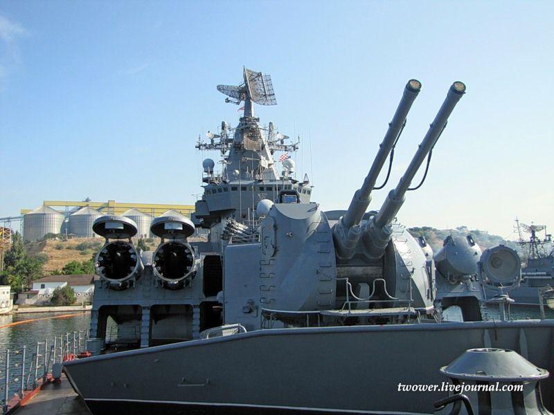 Гвардейский ракетный крейсер Москва (27 фотографий), photo:13