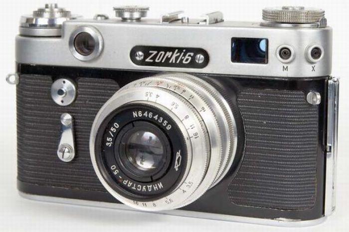 Фотоаппараты времен СССР (19 фото)