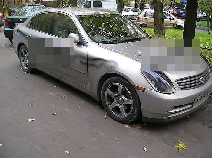 Подборка автомобилей, владельцам которых отомстили (21 фото)
