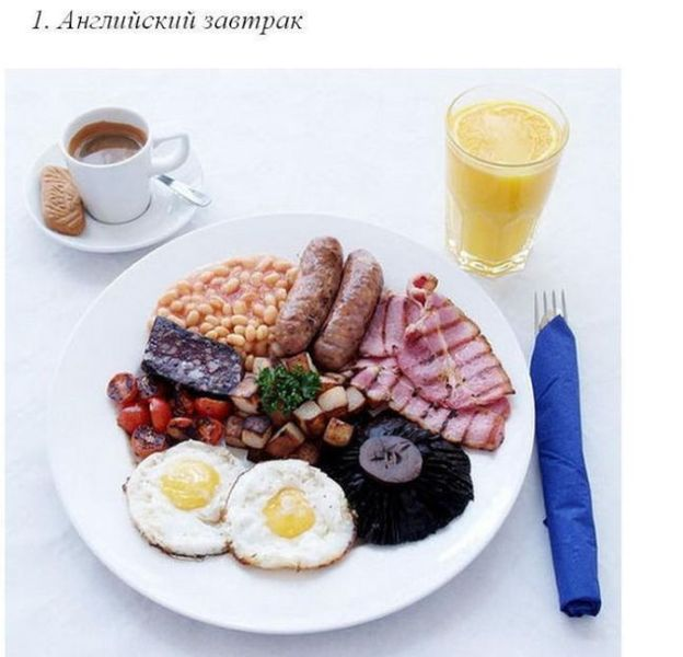 Завтраки разных народов (50 фото)