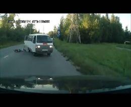 Выпрыгнул на ходу из машины