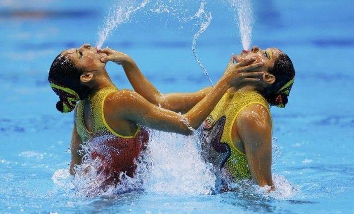 Лица девушек по синхронному плаванию (43 фото)