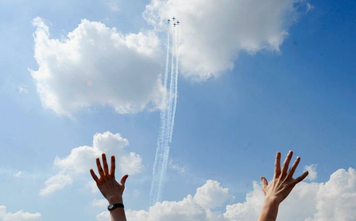 Авиашоу в честь юбилея российских ВВС (19 фото)