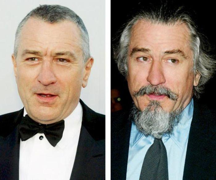Знаменитые мужчины до и после бритья (23 фото)