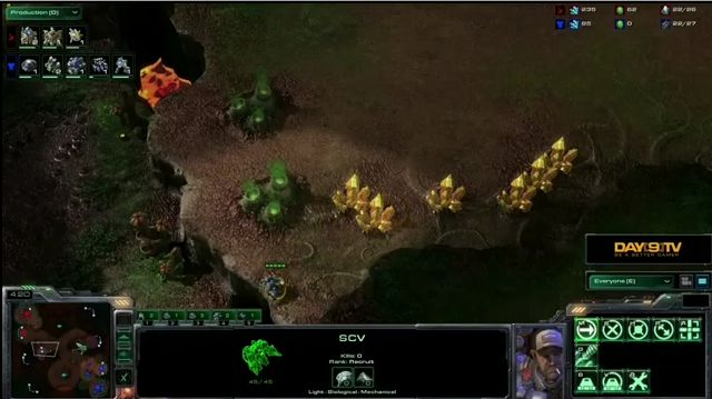 Геймплей StarCraft 2: Heart of the Swarm - TvP (видео)