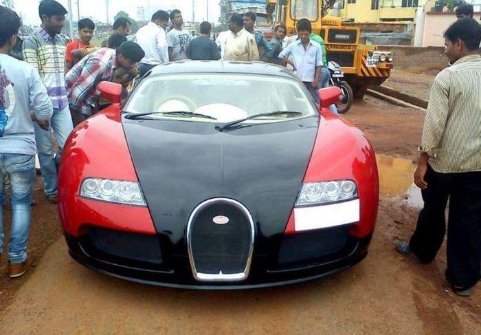 Отличная реплика Bugatti Veyron из Honda City (3 фото)