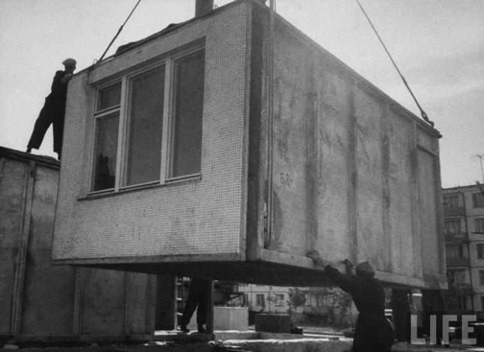 Строительство советских хрущевок (23 фото)