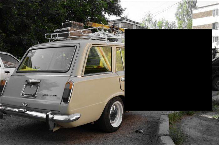 Необычный прицеп к ВАЗ 2102 (9 фото)