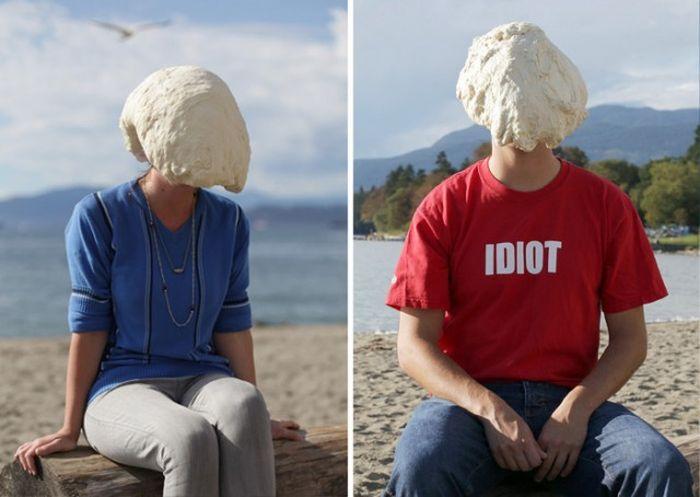 Люди с тестом на голове (8 фото)