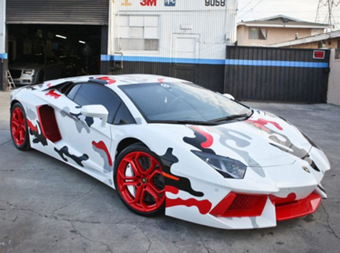 авто, lamborghini, aventador, крис браун, chris brown