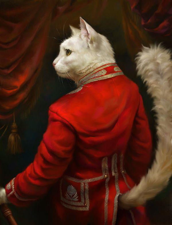 Классические портреты котов из высшего общества (5 фото)