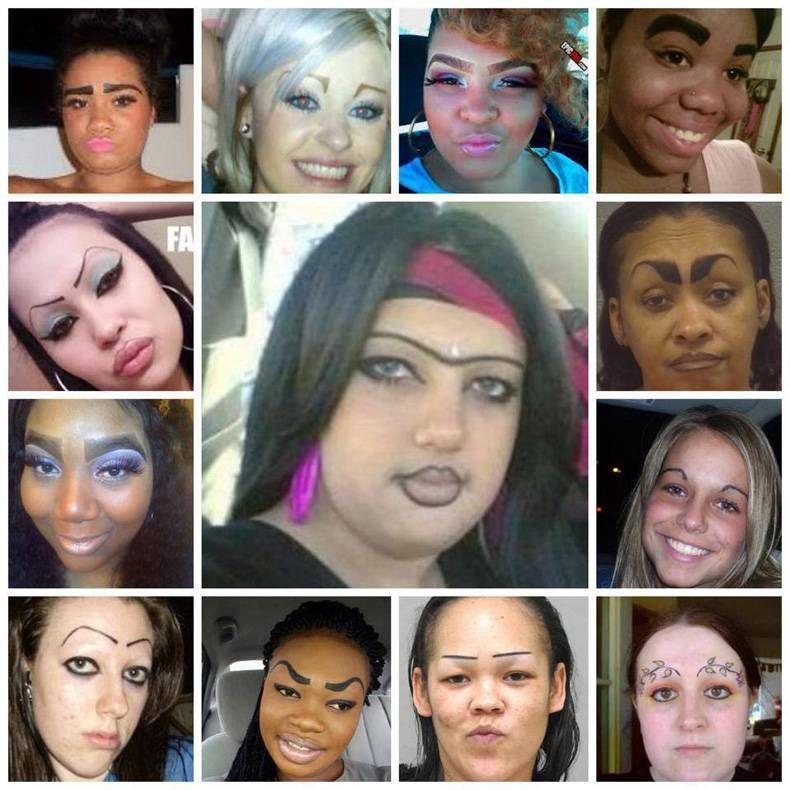 Прикол картинка брови, девушки, жесть, прикол, рожа