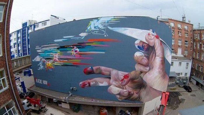 стрит-арт, город, стены