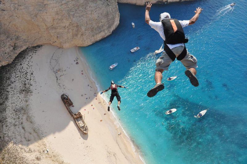 Фотоподборка берег, гавань, лагуна, прыжок с парашютом