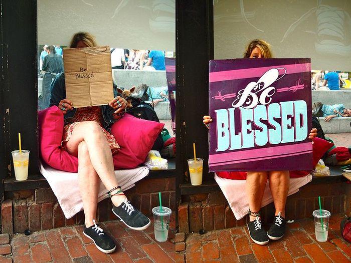 таблички, бездомные