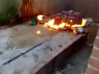 Пожар на барбекю