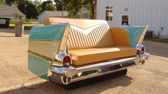 авто, мебель из машин, мебель
