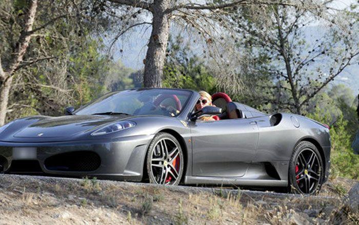 авто, пэрис хилтон, ferrari f430