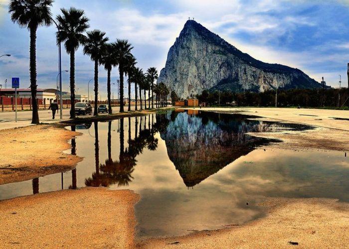 гибралтар, горы, полуостров, пролив, скалы