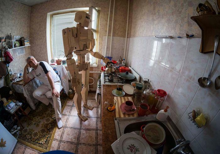 украина, модель, робот, из дерева