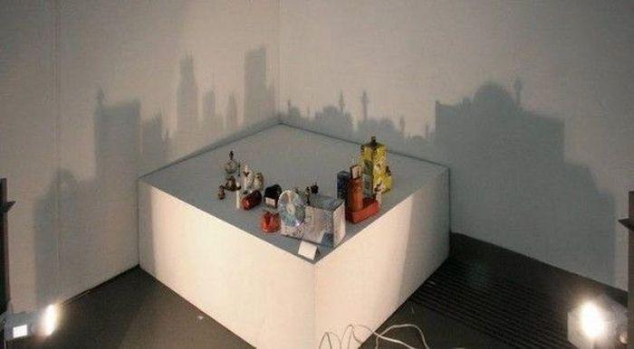 Азербайджанский художник создает картины при помощи света и тени (12 фото)