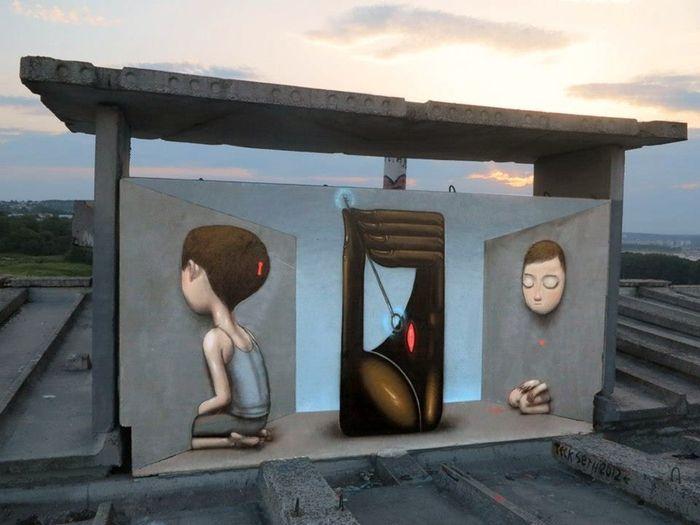 стрит-арт, уличное искусство, художник,