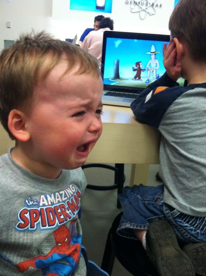 Почему плачут дети прикол картинки