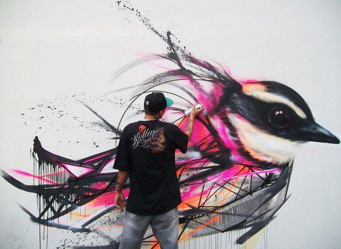Птичий стрит-арт L7M (13 фото)