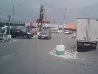 Авария на парковке