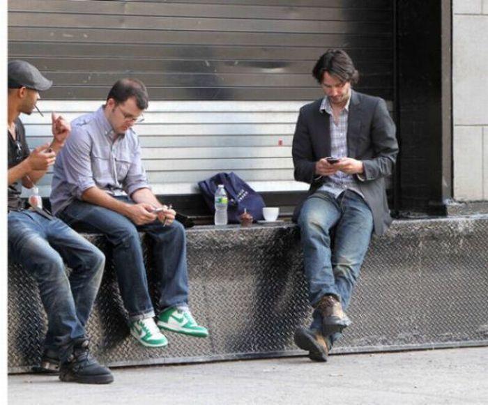Киану Ривз провел день рождения в Нью-Йорке (8 фото)
