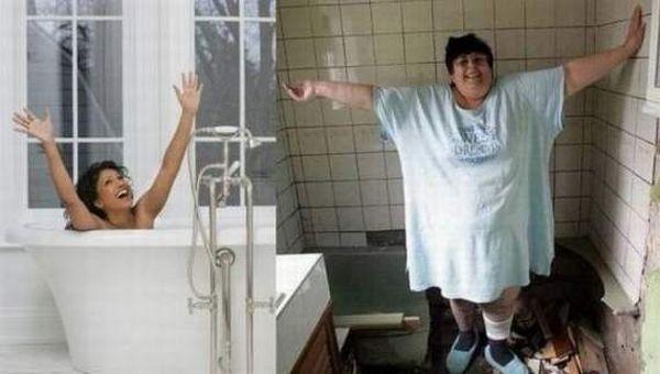 Худые и толстые в одинаковых ситуациях (18 фото)
