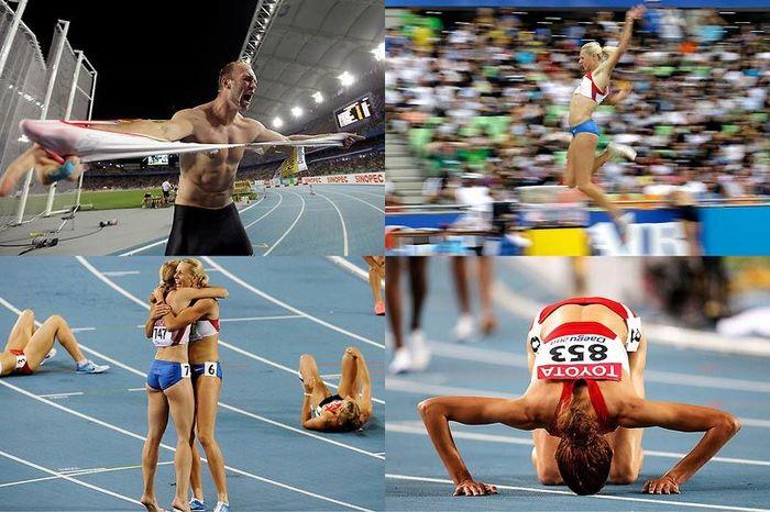 Засвет спортсменок по бегу