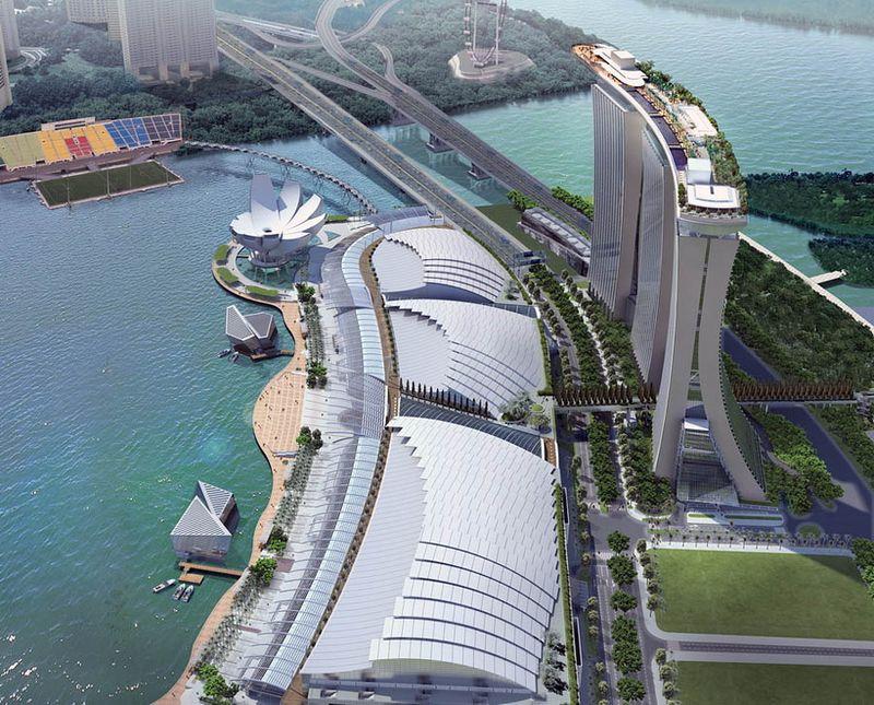Сингапурский курорт-казино Марина Бэй Сэндс (17 фото)